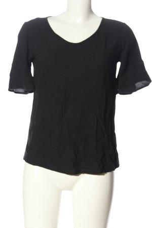 Tom Tailor U-Boot-Shirt schwarz Casual-Look