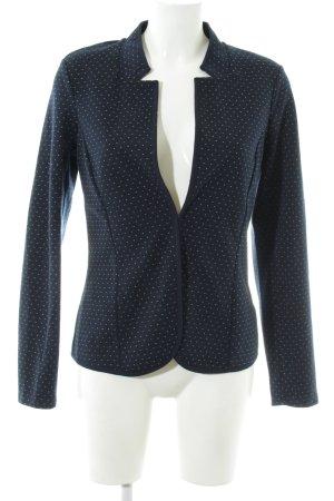 Tom Tailor Übergangsjacke blau-weiß Punktemuster Business-Look