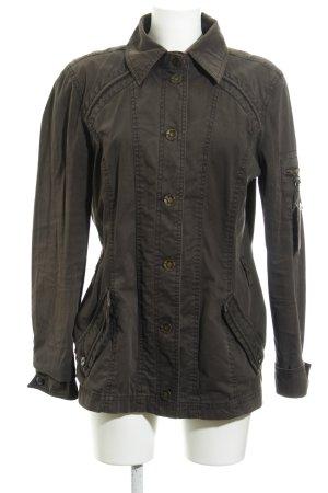 Tom Tailor Kurtka przejściowa czarno-brązowy W stylu casual