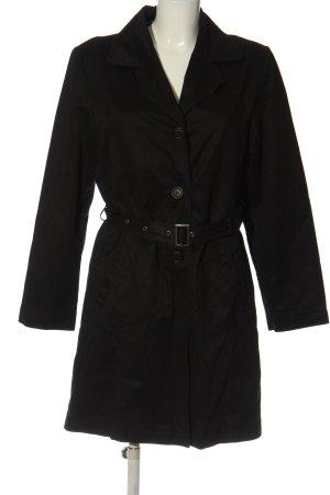 Tom Tailor Płaszcz przejściowy czarny W stylu casual