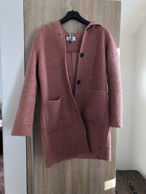 Tom Tailor Abrigo con capucha color rosa dorado