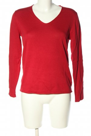 Tom Tailor V-Neck Sweater red casual look