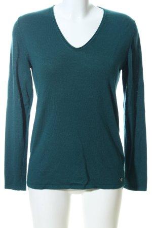 Tom Tailor V-Ausschnitt-Pullover grün Casual-Look