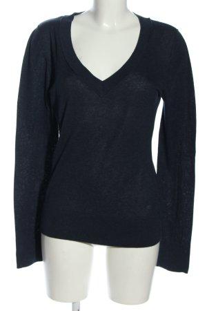 Tom Tailor V-Ausschnitt-Pullover blau Casual-Look