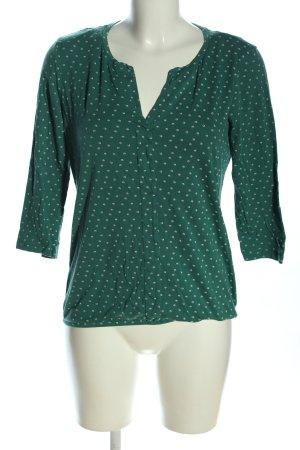 Tom Tailor V-Ausschnitt-Pullover khaki-creme Allover-Druck Business-Look