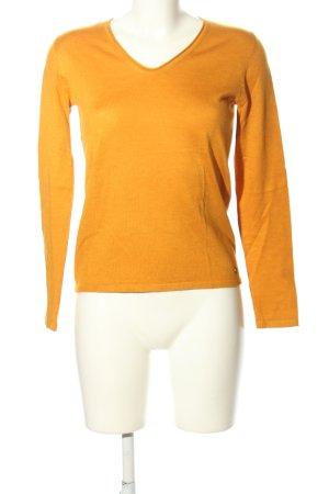 Tom Tailor V-Ausschnitt-Pullover hellorange Casual-Look