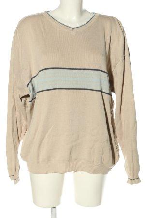 Tom Tailor V-Ausschnitt-Pullover Streifenmuster Casual-Look