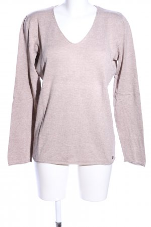 Tom Tailor Jersey con cuello de pico gris claro look casual