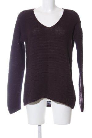 Tom Tailor V-Ausschnitt-Pullover lila Casual-Look