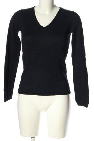 Tom Tailor V-Ausschnitt-Pullover schwarz Casual-Look