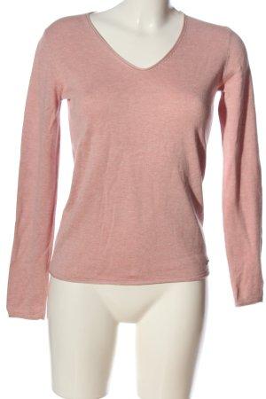 Tom Tailor V-Ausschnitt-Pullover pink Casual-Look
