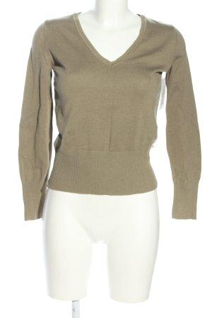 Tom Tailor V-Ausschnitt-Pullover wollweiß Casual-Look