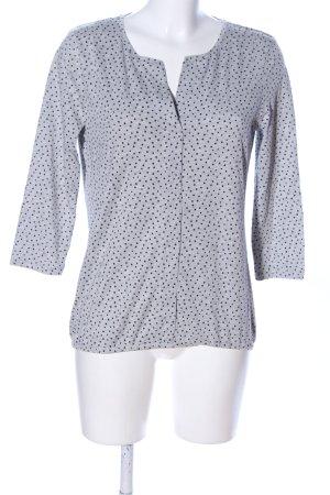 Tom Tailor V-Ausschnitt-Pullover hellgrau-schwarz Punktemuster Casual-Look