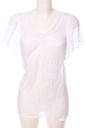 Tom Tailor V-Ausschnitt-Shirt weiß Casual-Look