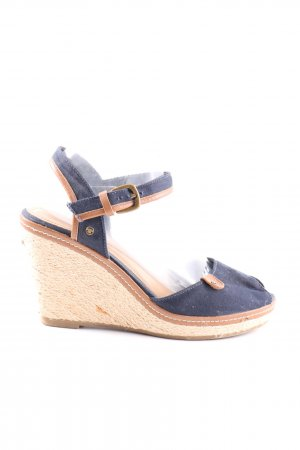 Tom Tailor Wedge Sandals blue flecked casual look