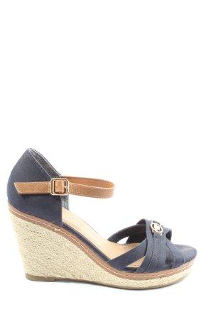 Tom Tailor Wedges Sandaletten blau-wollweiß Casual-Look