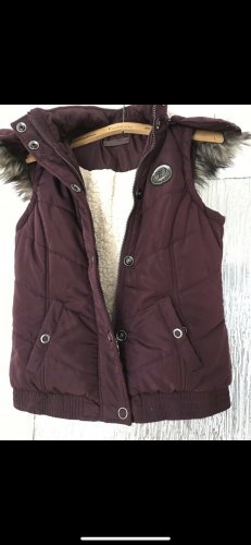 Tom Tailor Down Vest natural white-bordeaux