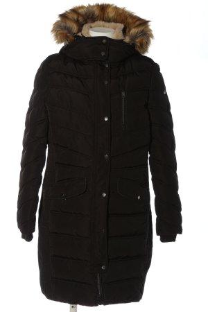 Tom Tailor Veste d'hiver noir motif de courtepointe style décontracté