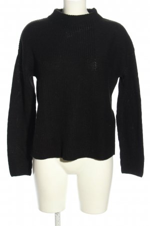 Tom Tailor Wollpullover schwarz Casual-Look