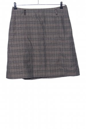 Tom Tailor Wool Skirt brown-light grey check pattern business style