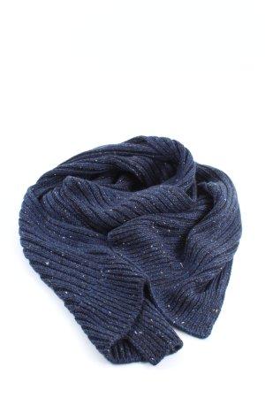 Tom Tailor Écharpe en laine bleu-noir moucheté style décontracté
