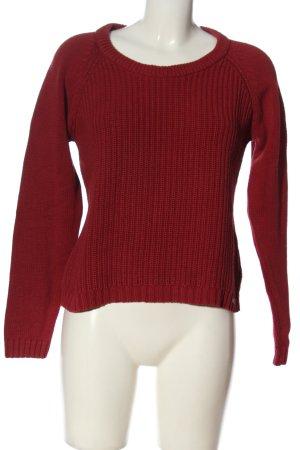 Tom Tailor Warkoczowy sweter czerwony Warkoczowy wzór W stylu casual