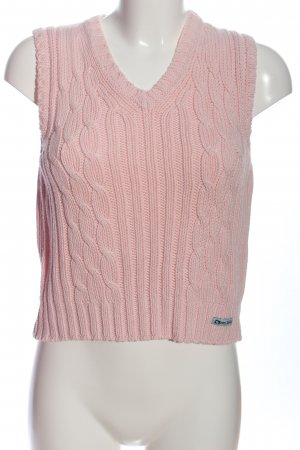 Tom Tailor Cable Sweater pink cable stitch casual look
