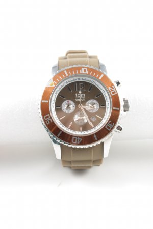 Automatisch horloge brons-wolwit casual uitstraling