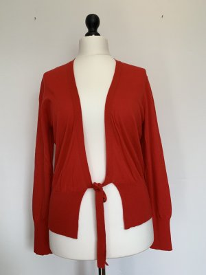 Repeat Knitted Cardigan red silk