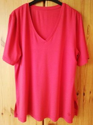 tomatenrotes längeres 1/2 Arm Shirt mit Seitenschlitzen von Selection by Ulla Popken