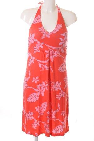 Tommy Bahama Vestido de cuello Halter rojo-blanco puro estampado floral