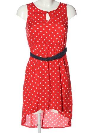 Tommy girl Asymetryczna sukienka czerwony-biały Na całej powierzchni