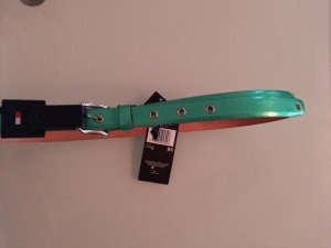 Tommy Hilfiger Leather Belt mint-silver-colored