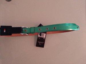 Tommy Hilfiger Cinturón de cuero menta-color plata