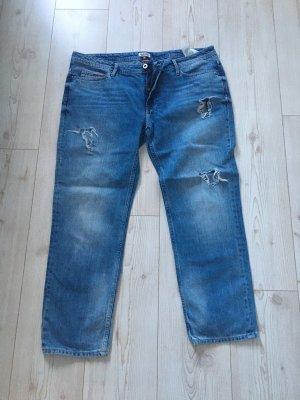 Tommy Hilfiger Lage taille broek blauw