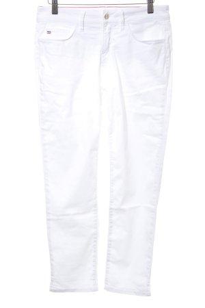 Tommy Hilfiger Pantalón tobillero blanco look casual