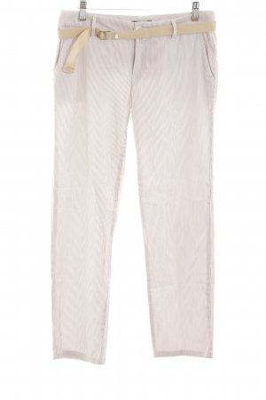 Tommy Hilfiger 7/8-Hose creme Streifenmuster Casual-Look