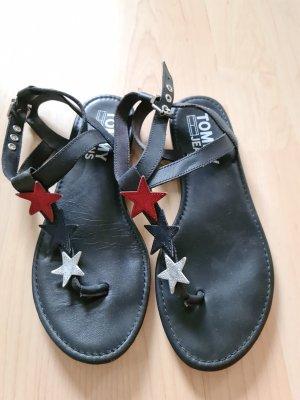 Tommy Jeans Sandalen met bandjes en hoge hakken donkerblauw
