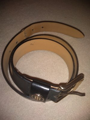 Tommy Hilfiger Leather Belt black-gold-colored