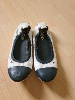 Tommy Hilfiger Ballerines pliables blanc-bleu foncé