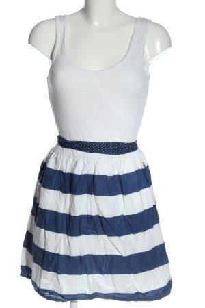 Tommy Hilfiger A-Linien Kleid weiß-blau Punktemuster Casual-Look