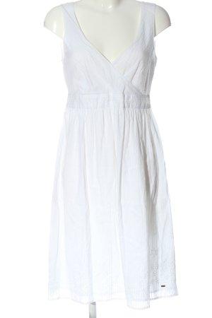 Tommy Hilfiger A-Linien Kleid weiß Streifenmuster Casual-Look