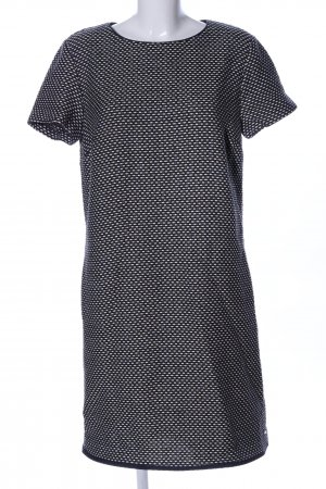 Tommy Hilfiger A-Linien Kleid hellgrau-schwarz Allover-Druck Casual-Look