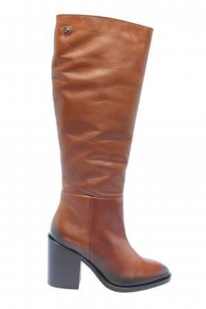 "Tommy Hilfiger Absatz Stiefel ""Shaded Long Boot Leather"" hellorange"