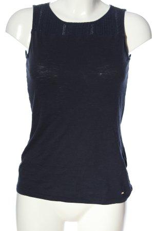 Tommy Hilfiger ärmellose Bluse blau Casual-Look