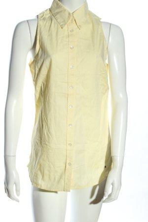 Tommy Hilfiger ärmellose Bluse blassgelb Casual-Look