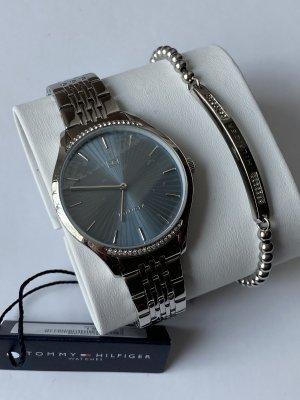 Tommy Hilfiger Reloj con pulsera metálica color plata-gris pizarra