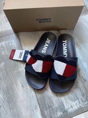 Tommy Hilfiger Sandalias de playa azul oscuro