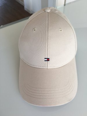 Tommy Hilfiger Baseball Cap cream cotton