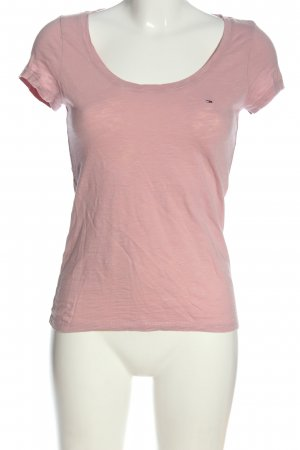 Tommy Hilfiger Basic-Shirt pink meliert Casual-Look